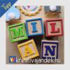 Kép 9/17 - Gyerekszobai színes betű dekoráció