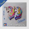 Kép 2/3 - unicornis színezhető hűtőmágnes
