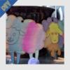 Kép 14/15 - Fa bárányok vízfestékkel festve
