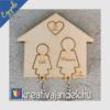 Kép 1/12 - Anya-lánya ajándék ötlet fali kulcstartó