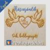 Kép 13/17 - Esküvői ajándék díszdoboz  minta gerlék