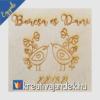 Kép 15/17 - Esküvői ajándék díszdoboz  minta vidám madarak