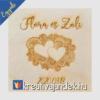 Kép 16/17 - Esküvői ajándék díszdoboz  minta szívek