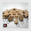 Kép 3/3 - Medvés fali kulcstartó, családi ajándék