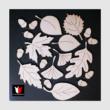natúr fából levelek
