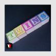 twins színes betűkocka
