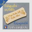 Nászajándék csomag - névtáblával