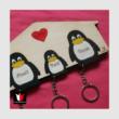 Pingvin kulcstartó
