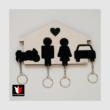 Különleges Autós-Motoros: Fa és Plexi kulcstartó