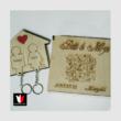 Névvel gravírozott páros fali kulcstartó díszdobozban