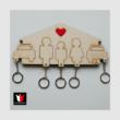 családos fali kulcsos