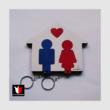 fali kulcstartó pároknak