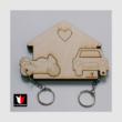 Garázs fali kulcstartó autó-motor