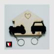 Garázs Autós-Motoros: Fa és Plexi kulcstartó