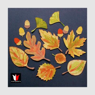dekorálható őszi falevelek fából