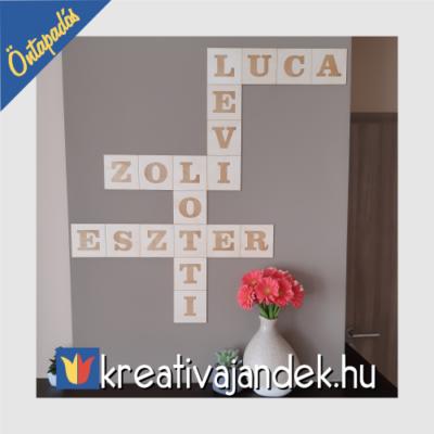 Scrabble felirat családi felirat