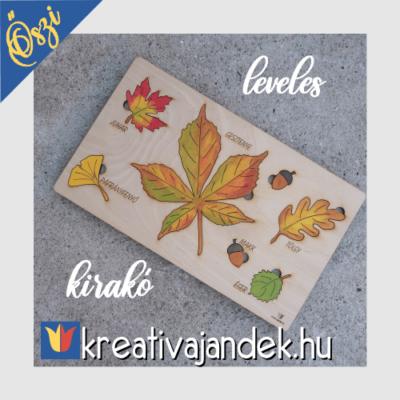 Őszi leveles kirakó magyar megnevezéssel
