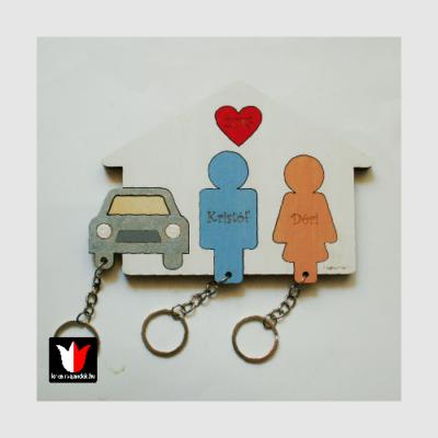 névre szóló autós fali kulcstartó