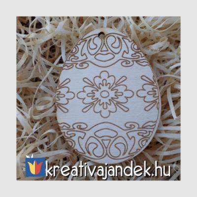 gravírozott fa dekoráció húsvét