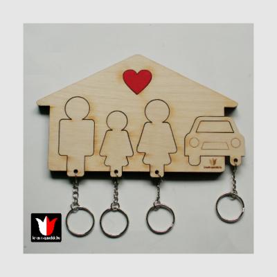 Apa-Lány-Anya-Autó1 kulcstartó