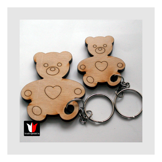 medve és bocs kulcstartó