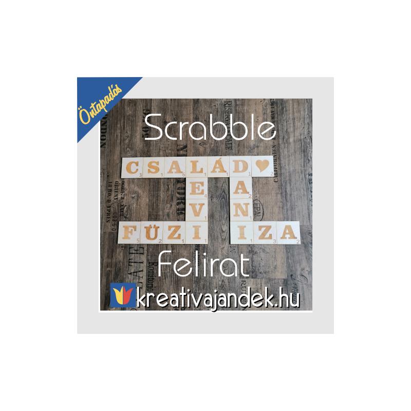 Családi fa dekoráció betű kirakó
