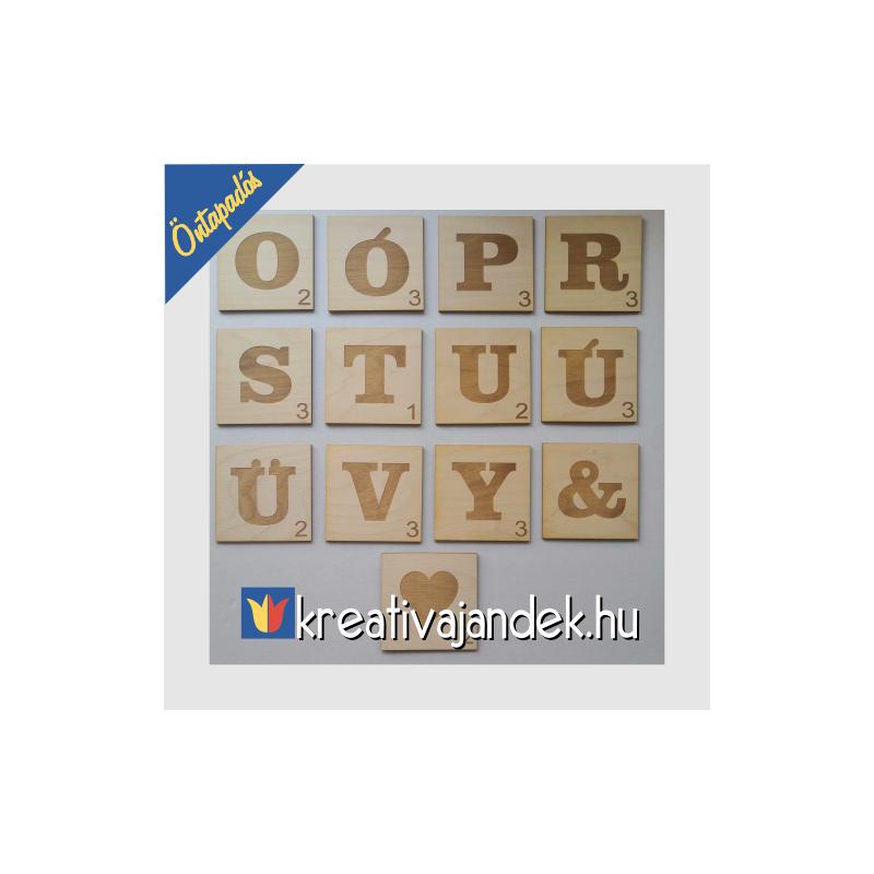 Scrabble faldekor betűkkel