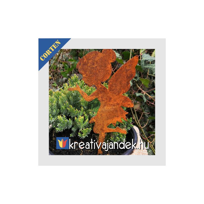 Tündér kerti dekoráció nemesrozsda acélötvözet
