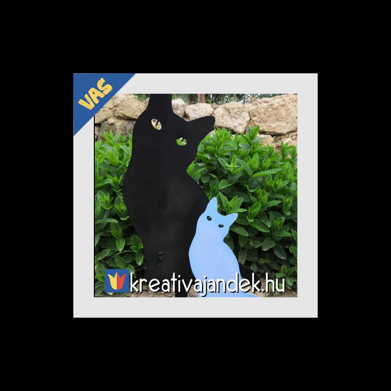 macskás kerti ajándék