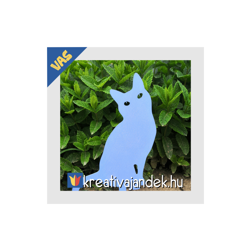 kerti macskás dekoráció