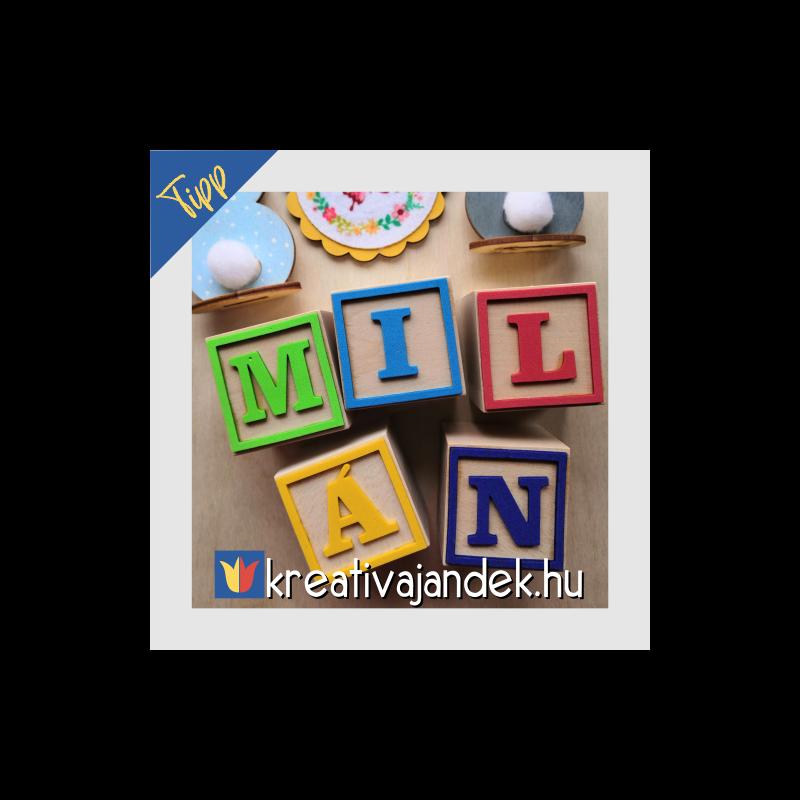 Gyerekszobai színes betű dekoráció