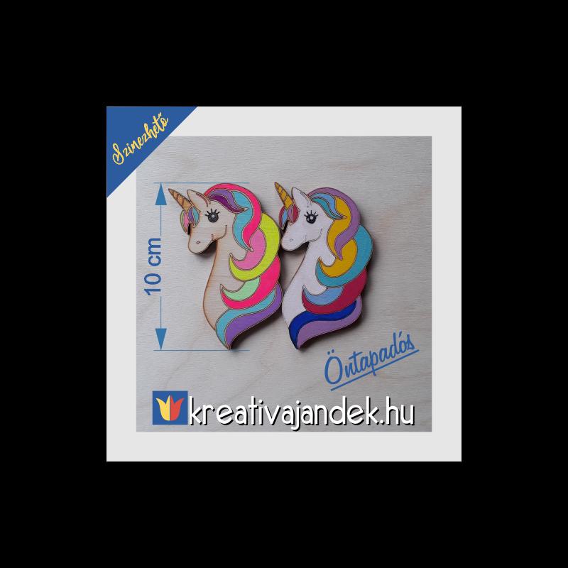unicornis színezhető hűtőmágnes