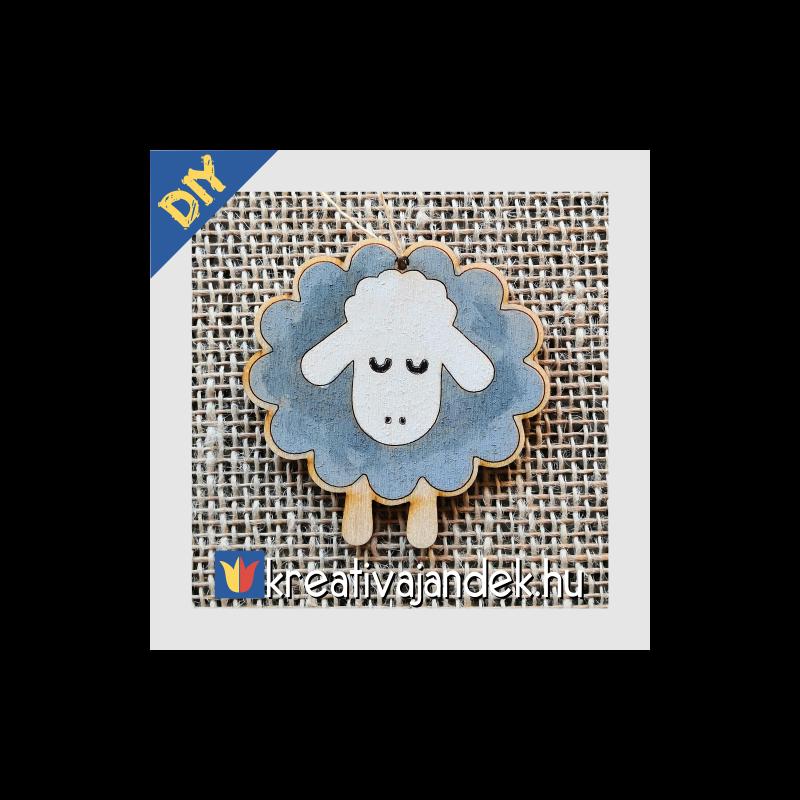 fa bárány kifestve