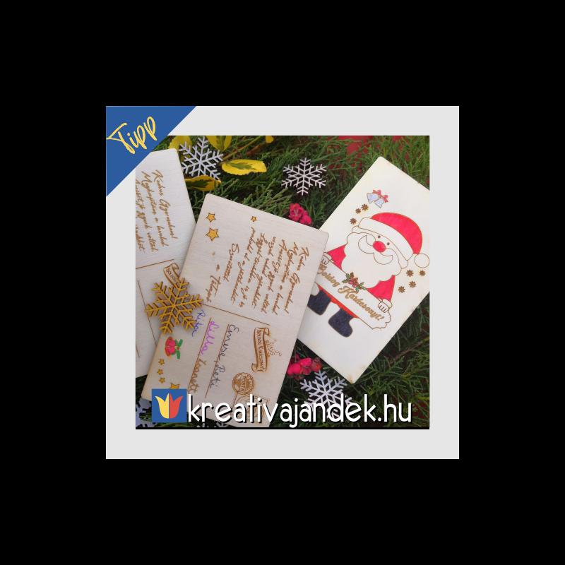 mikulástól ajándék képeslap