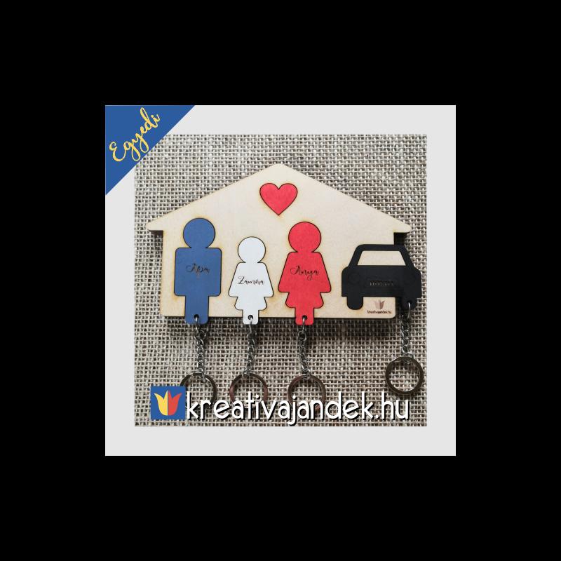 autós kulcstartó családnak