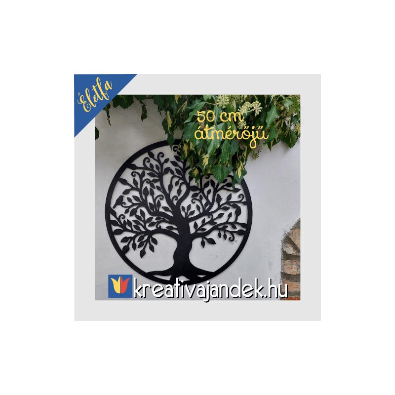 Nagyméretű fali dekoráció, életfa mintával